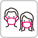 Staffs are wearing face masks